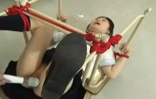 Japanese schoolgirl in bondage