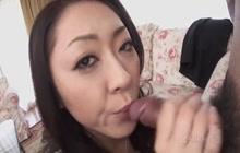 Ruri Hayami sucking hard dick