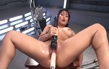 Japanese hottie and her sex toys