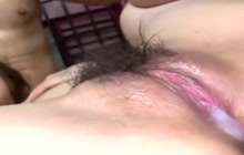 So many creampies for one Japanese babe