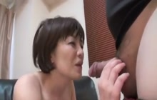 Japanese cougar fucked good