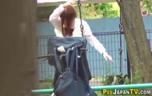 Pissing japanese cutie discards panties