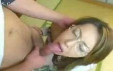 Japanese businesswoman sucking and fucking